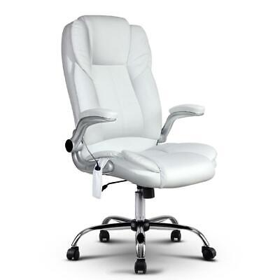 AU389 • Buy PU Leather 8 Point Massage Office Chair - White