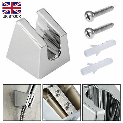 Adjustable Chrome Wall Mounted Bathroom Shower Head Holder Bracket Mount Rack UK • 5.01£