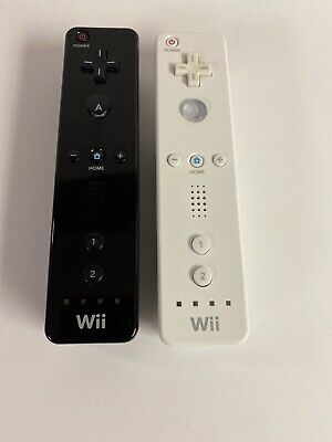 $ CDN38.89 • Buy Lot Of 2 Nintendo Wii Remote White And Black Controllers Tested RVL-003
