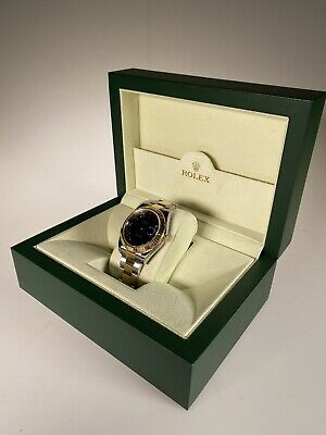 AU16000 • Buy Rolex Date Just 18ct Gold & Stainless Steel 41mm Black Face