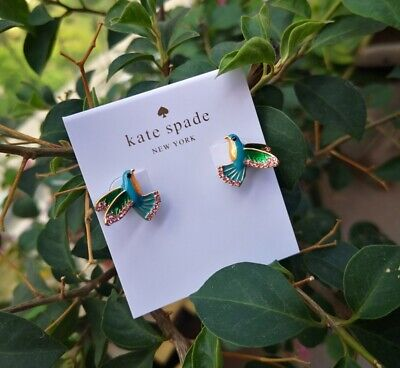 $ CDN27.99 • Buy Kate Spade 12k Gold Plated Scenic Route Hummingbird Stud Earrings
