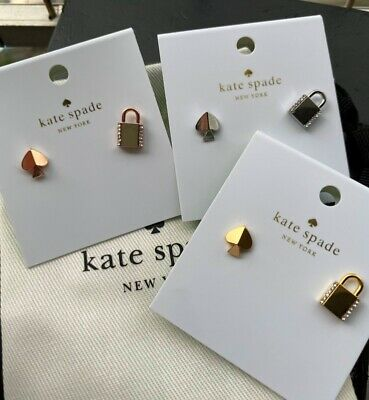 $ CDN25.09 • Buy $38 Kate Spade Lock And Spade Pave Asymmetrical Lock Studs