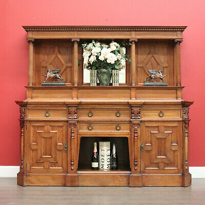 AU1850 • Buy Antique Australian Sideboard, Maple And Cedar Mirror Back Sideboard Cabinet