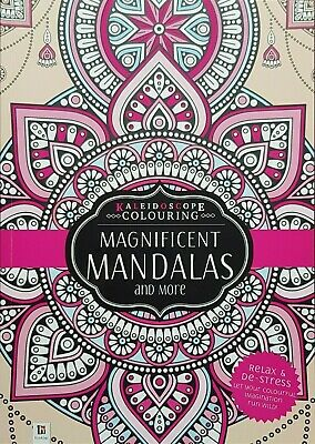 AU11.85 • Buy Adult Colouring Book Mandalas Mind Relaxation Stress Relief Calming Therapy Zen