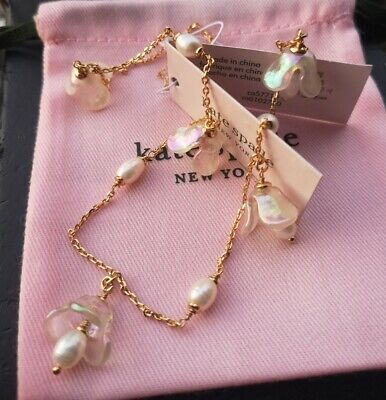 $ CDN38.88 • Buy Kate Spade New York Gold Tone Painted Petal Scatter Necklace