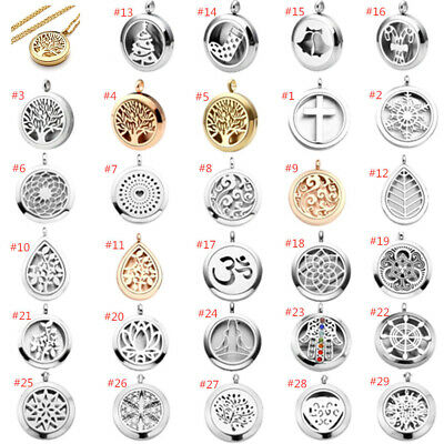 £7.99 • Buy Stainless Steel Locket Aromatherapy Essential Oil Diffuser Tin Pendant Necklace