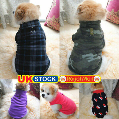 Pet Small Dog Fleece Harness Vest Jumper Sweater Coat Puppy Shirt Jacket Apparel • 6.29£