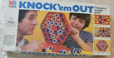 Vintage MB Knock Em Out Board Game. 1980. 4 In A Row Game • 10£