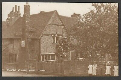 Postcard Chalfont St Giles Nr Amersham Children Outside Miltons Cottage Early RP • 4.99£