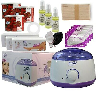 Wax Warmer, Hair Removal Waxing Kit, Electric Pot Heater Melts With Accessories • 28.49£