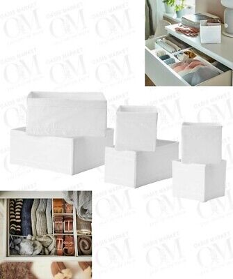 Set Of 6 Drawer Storage  Organiser For Clothes Accessories Socks Cube Closet • 12.99£