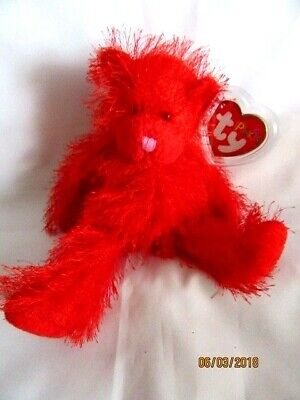 Ty Beanie Punkies  Sizzles - Red Bear - Mint - Retired • 9.99£