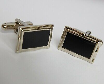 Cheap Black And Silvertone Cufflinks For Men Or Women Gh • 5£