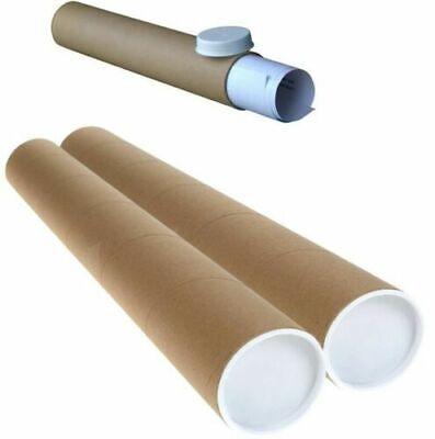 £3.49 • Buy Postal Tubes, Poster Rolls, A1/a3 Strong Cardboard Tube Rolls With End Cap