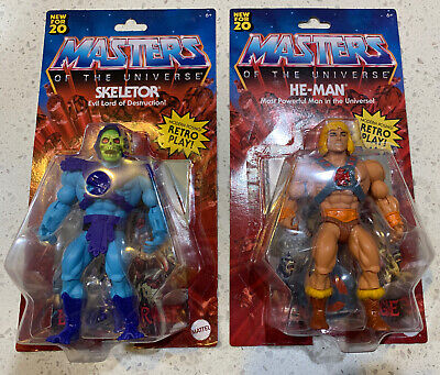 $46 • Buy Masters Of The Universe Origins He-Man And Skeletor LOT Walmart Exclusive Retro