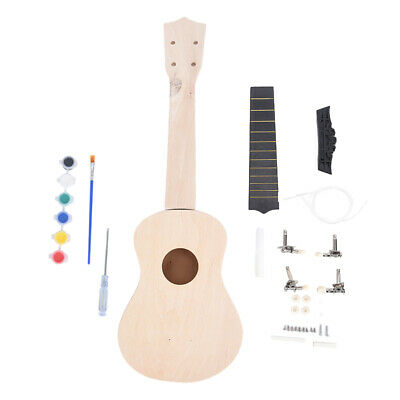 AU18.46 • Buy 21Inch DIY Wooden Ukulele Kit Tool Handwork Support Painting Children's Toy- _qi