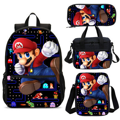 £18.99 • Buy Super Mario Game Mission Large School Backpacks Insulated Lunch Bag Pen Case Lot
