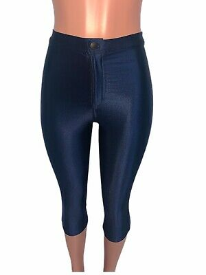 £20.97 • Buy Shiny Navy American Apparel Stretch Disco Crop Pants Nwts M Glam Party Club Wear