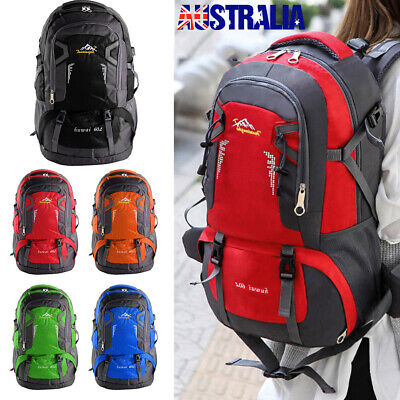 AU15.99 • Buy 60L Large Backpack Waterproof Hiking Camping Bag Travel Outdoor Luggage Rucksack