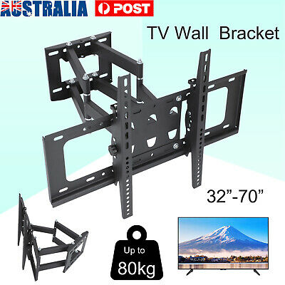 AU35.69 • Buy TV Wall Mount Bracket Full Motion Tilt Swivel Pivot 32 40 43 50 55 60 65 70 Inch