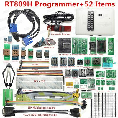 RT809H EMMC-NAND FLASH Programmer +56 ADAPTERS WITH CABEL EMMC-Nand +Suction Pen • 121.56£