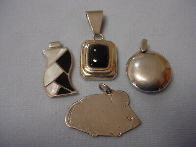 $ CDN32.94 • Buy Collection Lot Sterling Pendants - Onyx - Mother Of Pearl