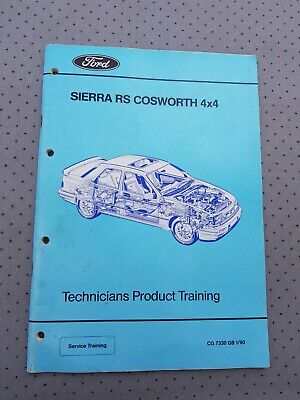 Ford Sierra Saphire RS Cosworth 4X4 Factory Technicians Training Workshop Manual • 39.99£