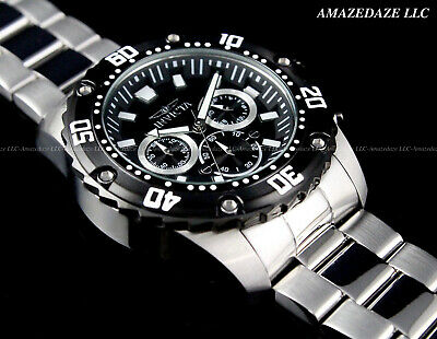 $ CDN78.59 • Buy NEW Invicta Men's PRODIVER 48mm Stainless Steel Black Dial Chronograph Watch !!