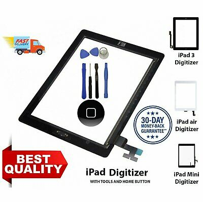 For IPad 2/3/4/5 Air Touch Screen Replacement Digitizer Front Glass Display • 11.83£