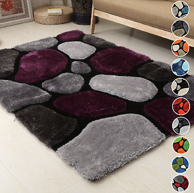 Modern Abstract Luxury 3D Pebbles Rug Tufted Pile Thick Shaggy Soft Texture • 49.95£