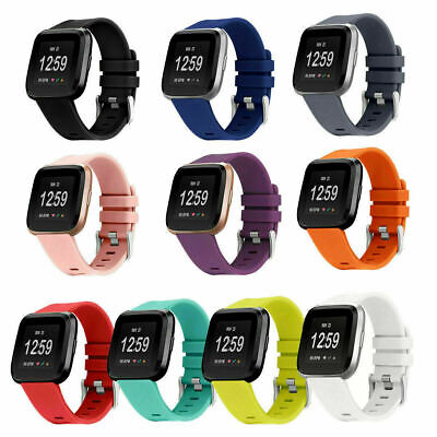 $ CDN5.99 • Buy For Fitbit Versa 2/Versa Lite Replacement Silicone Sport Watch Band Strad Buckle
