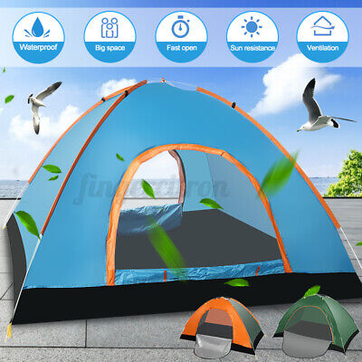 AU34.44 • Buy 3-4 Person Camping Tent Automatic Portable Family Tent Outdoor Hiking Shelter AU