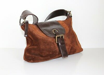 Women's Vintage COCCINELLE Slouch Brown 100% Leather Retro Handbag Shoulder Bag  • 33.60£