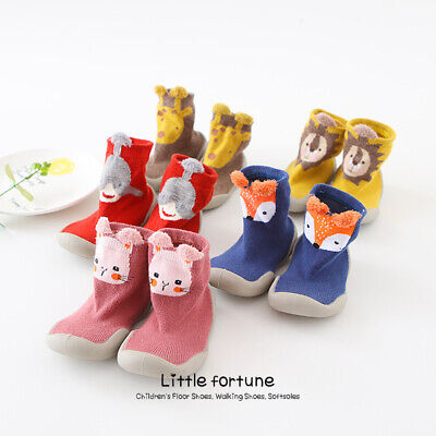 Unisex Baby Girl Boy Toddler Anti-slip Slippers Socks  Shoes Cotton Winter Warm • 6.89£