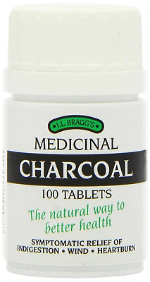 £6.89 • Buy Bragg's Medicinal Activated Charcoal - 100 Tablets - Indigestion & Heartburn