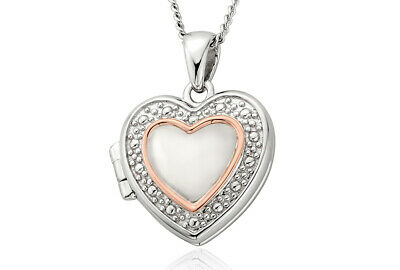 NEW Official Welsh Clogau Silver & Rose Gold Heart Locket (22 ) £30 Off!  • 99£