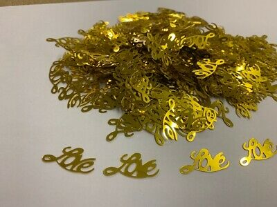 £1.49 • Buy Gold 'love' Table Confetti Scatter Hearts Wedding Hen Party Decoration