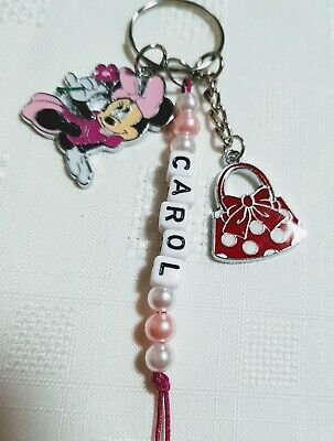 Disney Inspired Character Minnie Mouse Type Key Ring Bag Charm Christmas Gift Uk • 3.99£