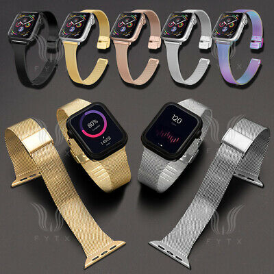 AU11.88 • Buy For Apple Watch IWatch 44/40/42/38mm Slim Milanese Stainless Steel Strap Band