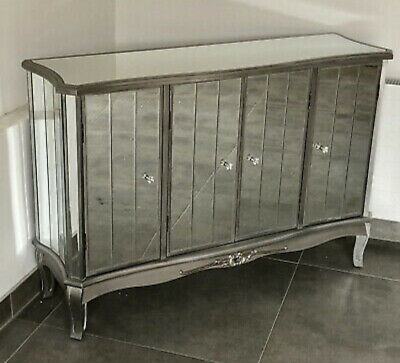 Argent French Silver Mirrored 4 Door Venetian Glass Sideboard • 275£