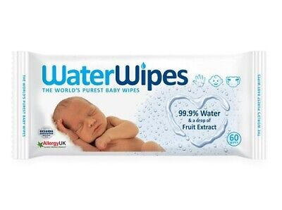 AU16.79 • Buy Waterwipes Baby Wipes 60 Water Wipes