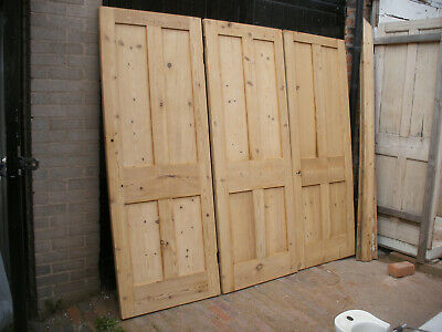 Reclaimed Victorian Stripped Pine Four Panel Doors. • 100£