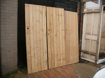 £90 • Buy Reclaimed Victorian Cottage / Plank / Ledge Stripped Pine Doors.  (15 Available)