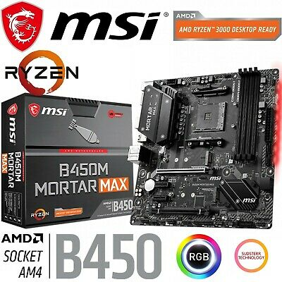 AU185 • Buy MSI B450M MORTAR MAX AMD Gaming Motherboard MicroATX AM4 RGB DDR4 RTX 3080 Ready