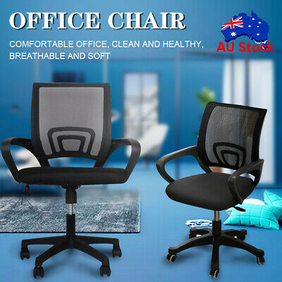 AU56.79 • Buy Ergonomic Office Chair Gaming Computer Mesh Chairs Executive Mid Back Black AU