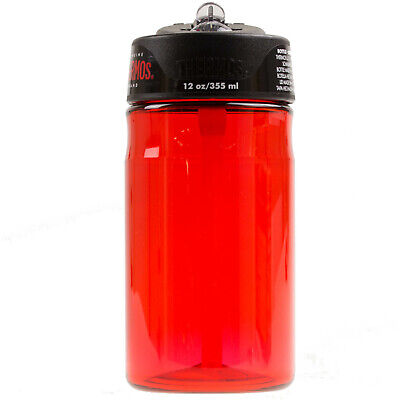 Thermos 355ml Hydration Bottle With Straw Sports Gym Water Drinks Tumbler Red • 8.50£