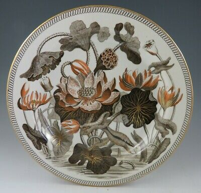 Antique Pottery Pearlware Brown Transfer Wedgwood Waterlily Darwin 10  Pl. 1810 • 126.99£
