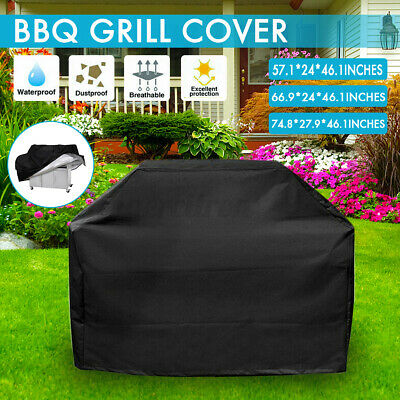 AU19.20 • Buy BBQ Cover 2/4/6 Burner Outdoor Gas Charcoal Barbecue Grill Protector Waterproof