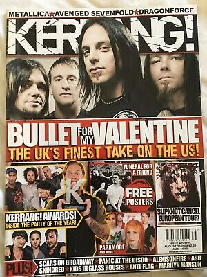 Kerrang No 1225 August 30 2008. Includes  Posters. • 3.50£