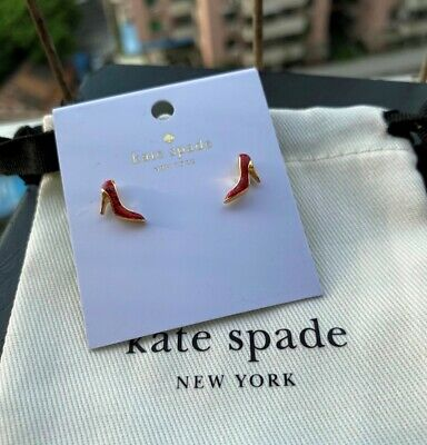 $ CDN29.32 • Buy Kate Spade New York Glitter Red High Heel Shoes Mini Stud Earrings